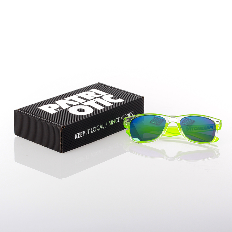 d8e250825a502f Patriotic - Clear Okulary kolor przezroczysty/zielony z czarnym ...