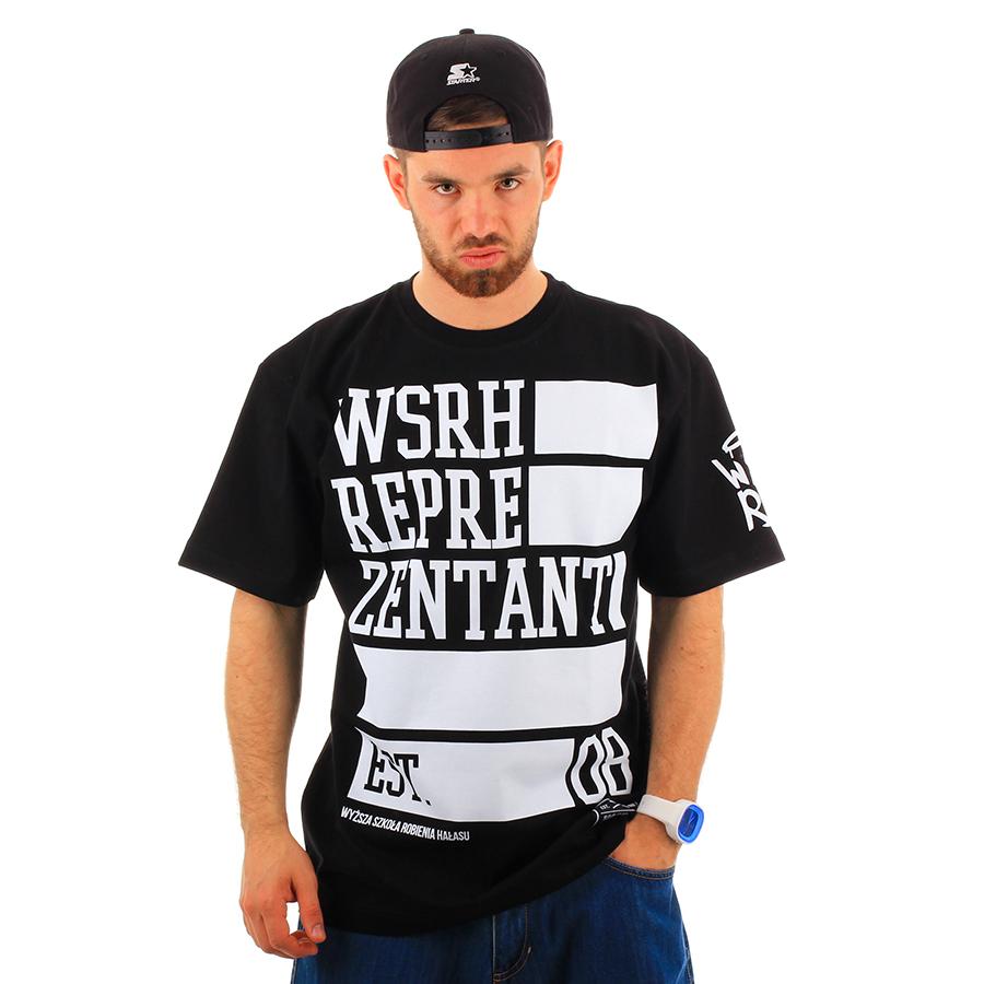 dbdc21a9d WSRH - Reprezentant T-shirt Koszulka kolor czarny do zamówienia na ...