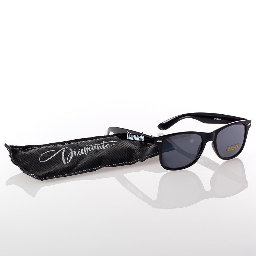 Party Hard' Okulary Czarne | Diamante